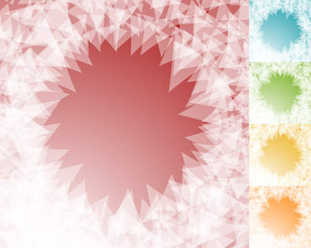 shatter: Colorful BG set in square format with edgy, shatter like effect. 5 colors.