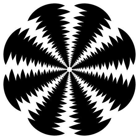 rotating: Circular, rotating spiral, vortex element, motif. Abstract geometric shape. Non-figural monochrome illustration.