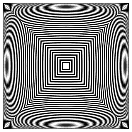 contrasty: Abstract contrasty distorted shape with alternating black and white radiating lines.