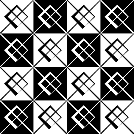 cellular: Geometric grid, mesh pattern with intersecting lines - Abstract grille, reticulated, cellular pattern. Illustration
