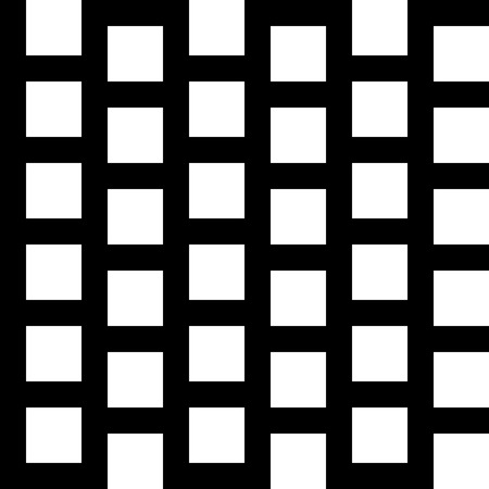 grillage: Repeatable pattern with squares. Geometric cellular grid, mesh pattern. Illustration