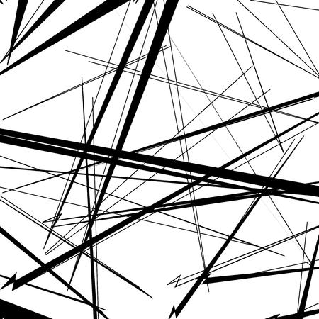 irregular: Abstract, irregular lines pattern, background. Monochrome geometric art. Illustration