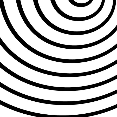 Concentric, radiating circles, rings. Radial abstract element