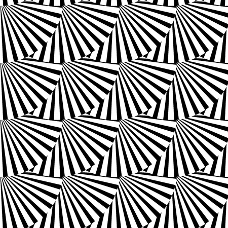 bw: Geometric monochrome pattern with overlapping circles containing radial, radiating lines