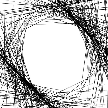 bw: Dense intersecting lines. Abstract geometric, edgy graphic. Monochrome geometric art.