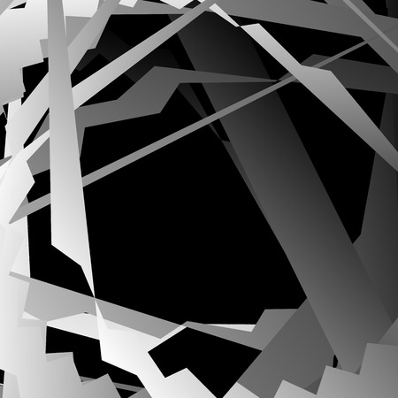 distorted: Abstract artistic background with distorted overlapping shapes. grayscale, monochrome graphical backdrop in square format