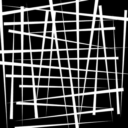 b cell: Random intersecting irregular lines - Monochrome abstract illustration Illustration