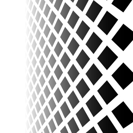 fading: Fading mosaic of squares. Vanishing pattern in perspective. Illustration