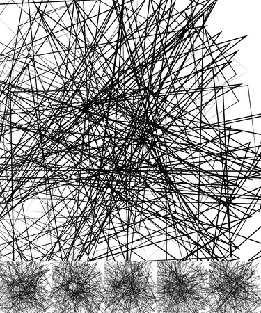 chaotic: Chaotic irregular, random, scattered lines artistic geometric image
