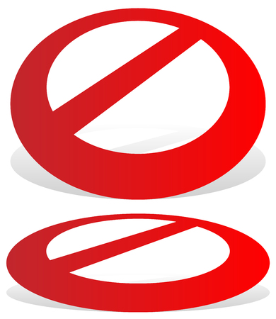 do not enter: Prohibition, restriction sign. Red no entry, do not enter sign(s) on white. Caution, warning, keep away sign.
