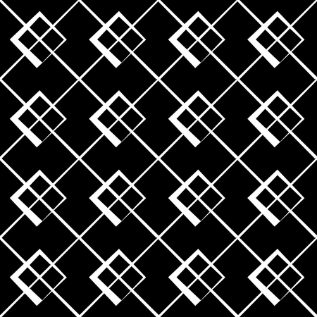 intersecting: Geometric grid, mesh pattern with intersecting lines - Abstract grille, reticulated, cellular pattern. Illustration