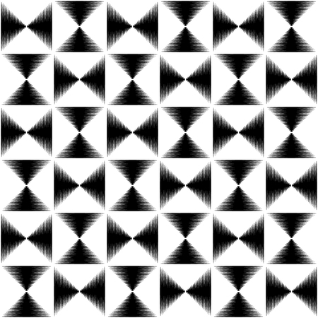 pointed to: Pointed lines repeatable seamless pattern. Monochrome abstract background. Illustration