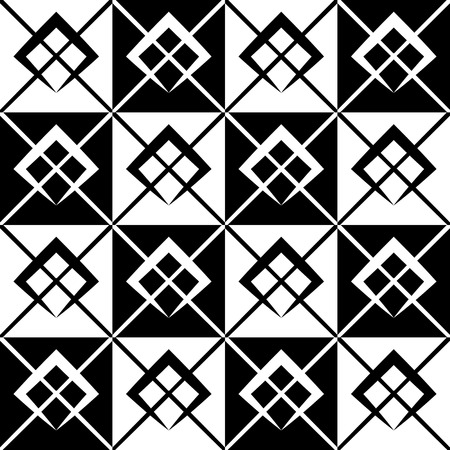 grillage: Geometric grid, mesh pattern with intersecting lines - Abstract grille, reticulated, cellular pattern. Illustration