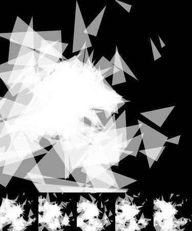 shards: Random shards, splinters abstract, artistic background  pattern  texture set. Set 6 variation. Illustration