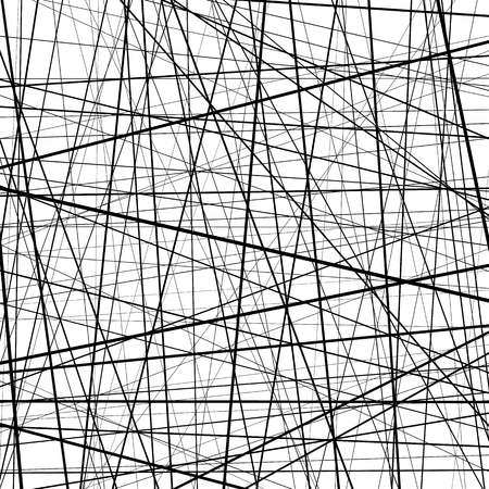 graphic texture: Abstract monochrome texture with straight intersecting lines. Random chaotic lines pattern. Rough texture. Artistic graphic.