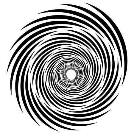 formas de espiral, vórtice, verticilo, remolino. Elemento abstracto (s). Ilustración de vector