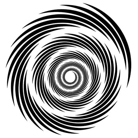 Spiraal, draaikolk, whorl, krul vormen. Abstracte element (s).