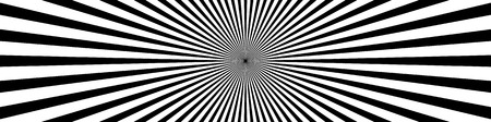 converging: Converging lines, starburst, sunburst background in wide format. black and white beams