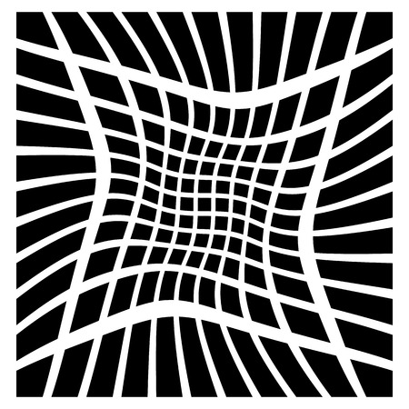 bw: Mesh of squares with distortion effect. Simple artistic element. Other versions in my portfolio.