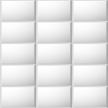 grayscale background: Beveled ceramic tiles pattern. seamlessly repeatable grayscale background