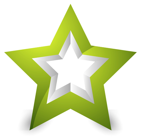 3d star: 3d star icon  element on white with shadow
