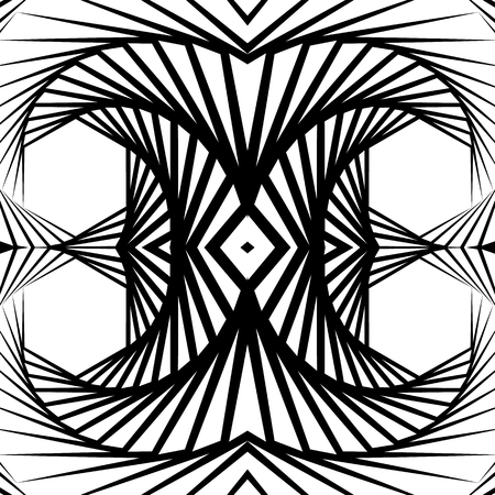mirrored: Abstract mirrored vortex background, pattern. Seamlessly repeatable pattern with spirally effect. Abstract monochrome graphic Illustration