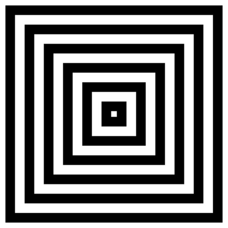 blocky: Converging - Radiating Squares. Contour lines of group of squares Illustration