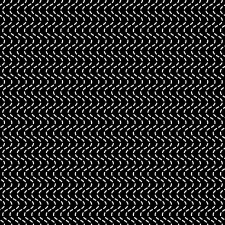 dashed: Wavy dashed lines. Seamlessly repeatable geometric pattern. Abstract monochrome background.