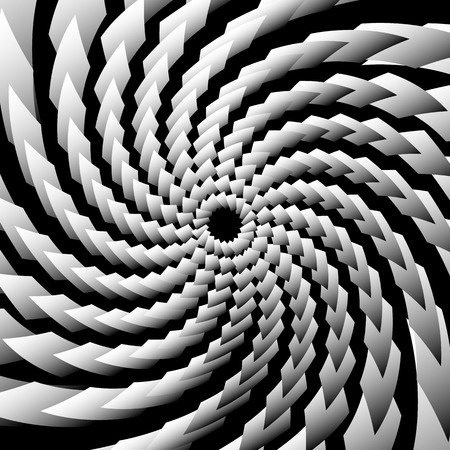 torsion: Spirally, swirly backdrop, pattern. Grayscale abstract illustration