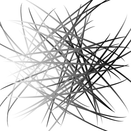 mess: Abstract chaotic lines pattern. Intersecting, random lines artistic image. Illustration