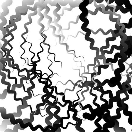 irregular: Abstract graphic with irregular, random lines. Artistic monochrome graphic.