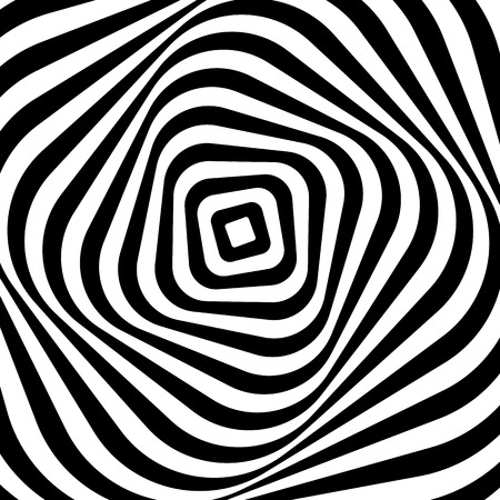 eyestrain: Swirling, spiraling monochrome geometric element. Abstract graphic.