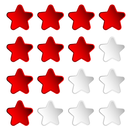 star rating: Star rating element with 4 star for valuation, review, voting concepts.