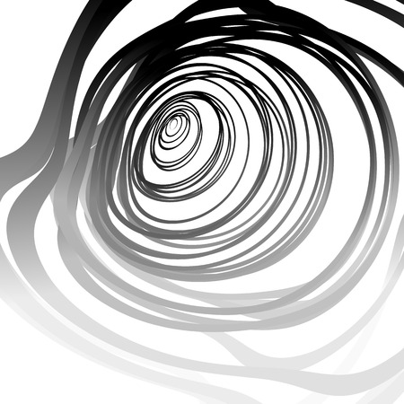 distorted image: Abstract artistic image with random concentric distorted circles - circular shapes