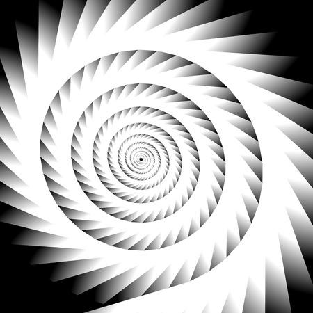 revolve: Abstract spiral, vortex graphic. Inward spiral. Artistic monochrome image. Illustration