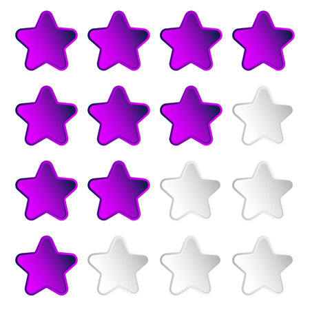 valuation: Star rating element with 4 star for valuation, review, voting concepts.