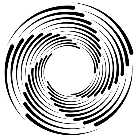 dizzy: Spiral, vortex, whorl, swirl shapes. Abstract element(s). Illustration
