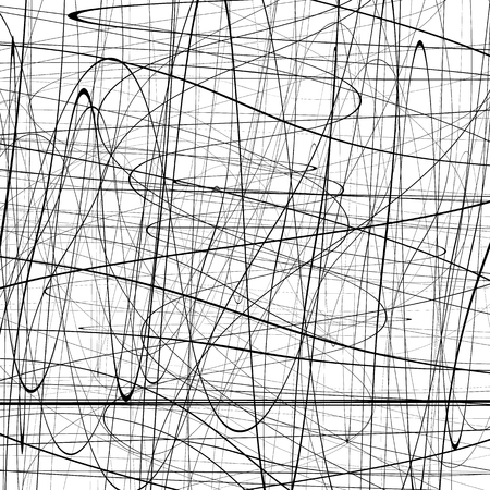squiggle: Abstract pattern with squiggly, squiggle lines. Abstract texture with curvy intersecting lines. Artistic graphic.