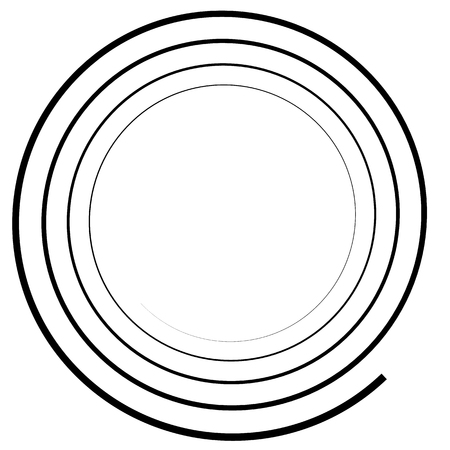 Abstract spiral element. monochrome twirl, swirl shape, snaky, curvy graphic