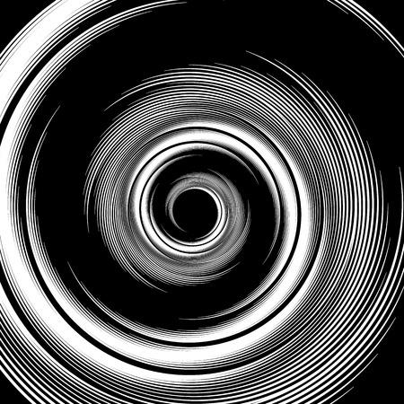 visual effect: Spiral pattern. Vortex, volute visual effect - Abstract monochrome illustration.