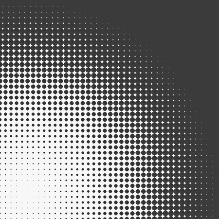 prepress: Abstract graphic: Halftone element made of 4-point stars