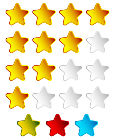 awful: Star rating element with 4 star for valuation, review, voting concepts.