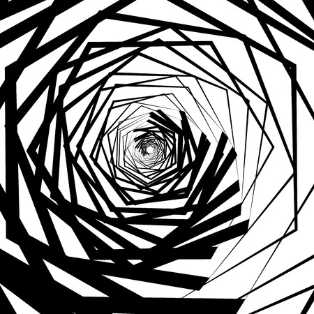 gyration: Abstract artistic background. Abstract artistic background with random, spirally contour lines. Geometric monochrome graphic.