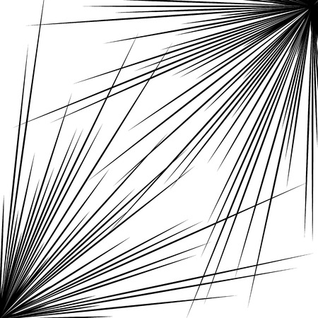 pointed: Pointed, sharp abstract shape, element. Radiating, bursting edgy, sharp lines. Illustration