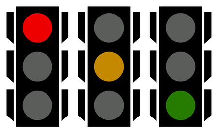 clipart street light: Traffic lamp silhouettes, symbols. Can be customized. Illustration