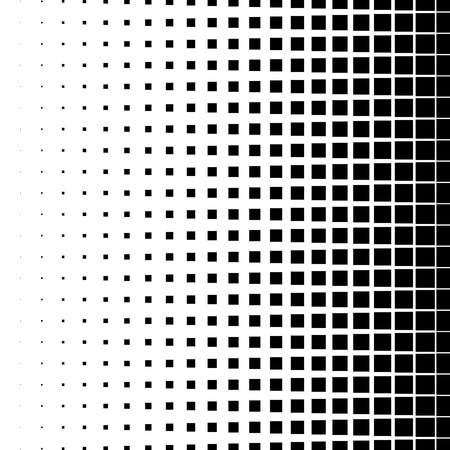 pixelation: Halftone graphics with squares, monochromatic abstract element