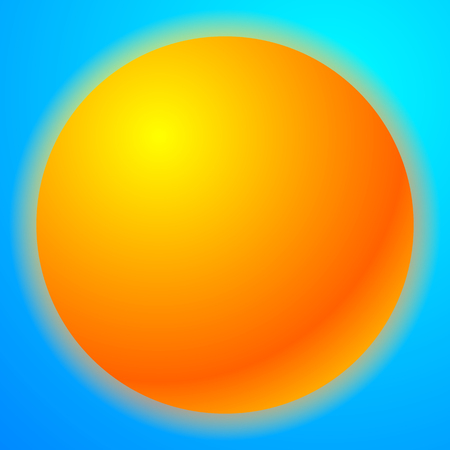 solarium: Sun graphics with bright gradient fill. Graphic for summer, solarium, happiness or rellated theme