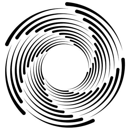 Spiral, vortex, whorl, swirl shapes. Abstract element(s).