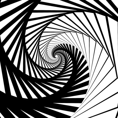 inwards: Abstract background-pattern with spirally, vortex effect. Abstract monochrome backdrop spiraling inwards, geometric pattern