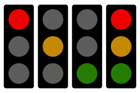 customized: Traffic lamp silhouettes, symbols. Can be customized. Illustration